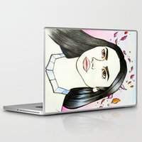 pocahontas Laptop & iPad Skins featuring Pocahontas by An Bidault Terra
