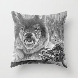 A Wild Ride Throw Pillow