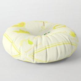 Colors: yellow (Los colores: amarillo) Floor Pillow