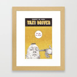 TAXI DRIVER hand drawn movie poster in pencil Framed Art Print
