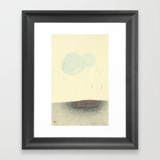 Hover In Blue Framed Art Print