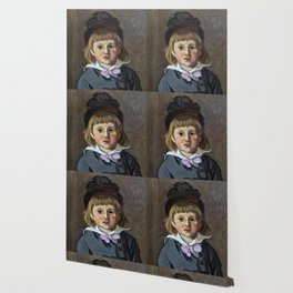 Portrait de son fils Jean en bonnet à pompon, Claude Monet Wallpaper