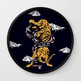 Tiger vs Snake Wall Clock