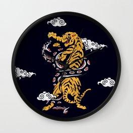 Tiger vs Snake Wall Clock