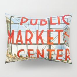 Seattle Pike Place Market Pillow Sham