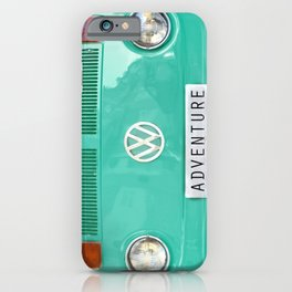 Adventure wolkswagen. Summer dreams. Green iPhone Case