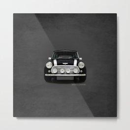 The Classic Mini Cooper Metal Print