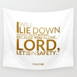 Psalm 4:8 Wall Tapestry