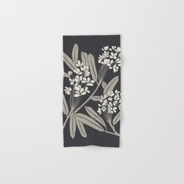 Boho Botanica Black Hand & Bath Towel