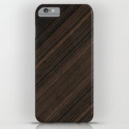 Ebony Macassar Wood iPhone Case