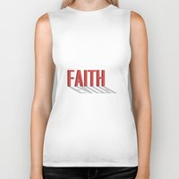 faith Biker Tanks featuring FAITH by Shepo