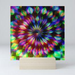 Psychedelic Rainbow Swirl Mini Art Print