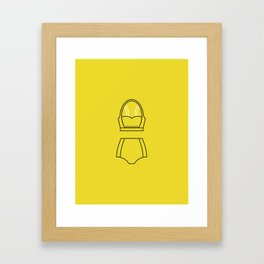 SS16 Yellow Swimsuit Framed Art Print