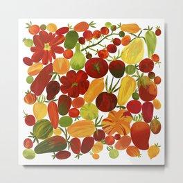 Whimsical Fruit Salad Metal Print