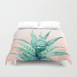 Desert Succulent Aloe Vera Duvet Cover