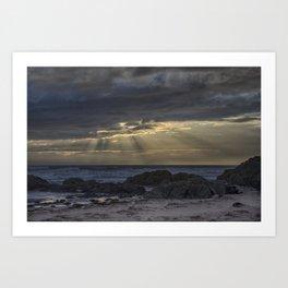 Sunset and God beams Art Print