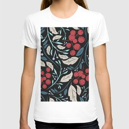 Holiday Holly and Mistletoe Pattern T-shirt