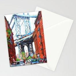 Manhattan Bridge, View From Dumbo Brooklyn Stationery Cards