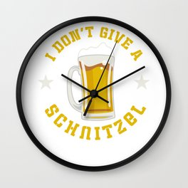 I Don't Give A Schnitzel Oktoberfest Beer Festival Wall Clock