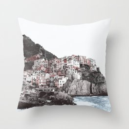 Old Town on the Sea Throw Pillow