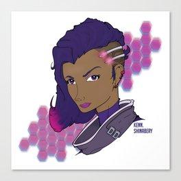 Sombra Hacked Canvas Print