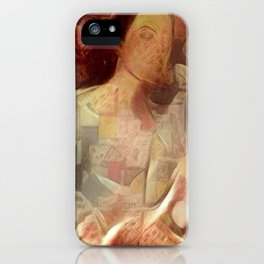 Woman in negligee iPhone Case