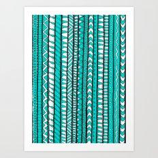 Rustic Turquoise Art Print