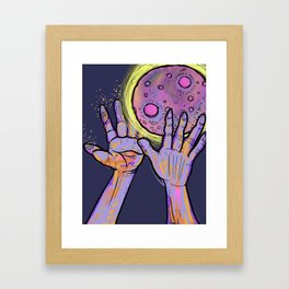 *Super Pink Full Moon* Framed Art Print