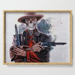 The Gunslinger - Dia De Los Muertos Serving Tray