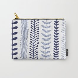 navy blue vines Carry-All Pouch