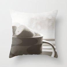 sunday hot chocolate.  Throw Pillow
