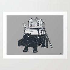 Hippopotabus Art Print