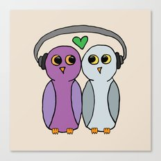 Hootbeats Canvas Print