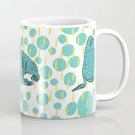 Seals- turquoise and yellow Coffee Mug