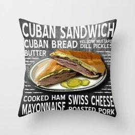 Cuban Sandwich Throw Pillow