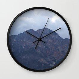 Mountain at Pyramid Lake Wall Clock