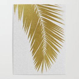Palm Leaf Gold I Poster