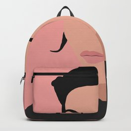 Sonja - a minimal portrait in pink Backpack