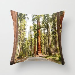 sequoia tree Throw Pillow