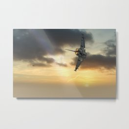 RAF Typhoon at sunset Metal Print