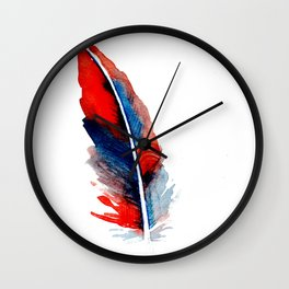 feather  3 Wall Clock