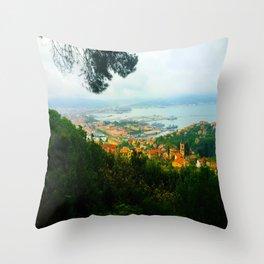 La Spezia, Italy City Panorama Throw Pillow