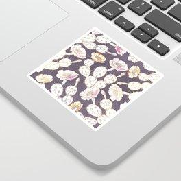 Modern white gold mauve lavender catus floral Sticker