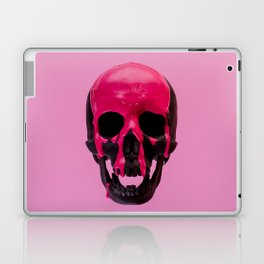 Pink Dripping Skull Laptop & iPad Skin