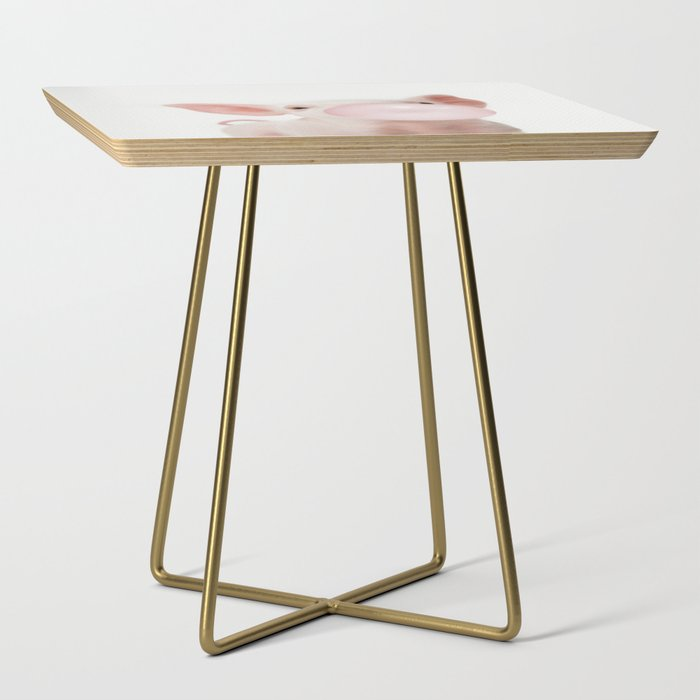 Bubble Gum Baby Pig Side Table