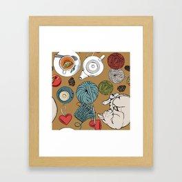 home cosiness Framed Art Print