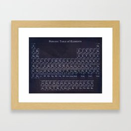 Periodic Table Framed Art Print