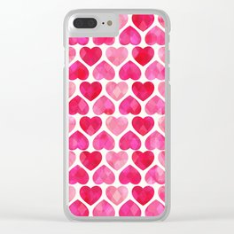 RUBY HEARTS Clear iPhone Case