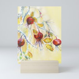 Winter Rosehips Mini Art Print