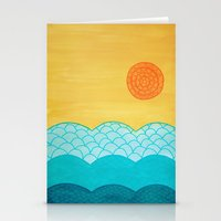 sunrise Stationery Cards featuring Sunrise by sinonelineman